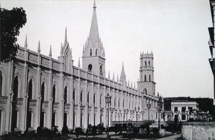 Anónimo, Palacio de las Academias, antigua Universidad, c. 1883.