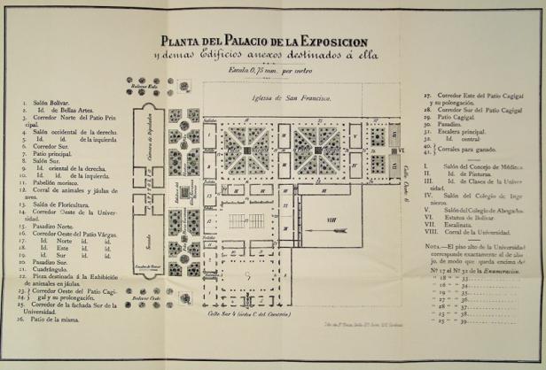 Plano de la Exposición del Centenario, Caracas, 1883.