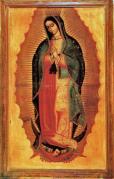 Ntra. Sra. de Guadalupe. Óleo sobre tela, del pintor mexicano Miguel Cabrera. Mediados del siglo XVIII.