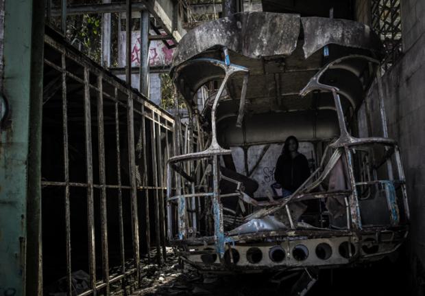 Antiguo vagón abandonado. Foto Nohely Ron.