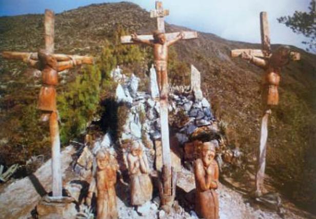 Tallas del Calvario en el interior de la Capilla Mayor del Dr. José Gregorio Hernández.