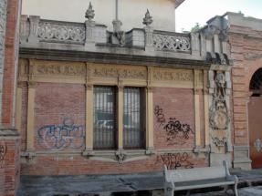 Vista lateral del inmueble en área anexa al arco inconcluso. Foto: Eduardo Tovar Zamora.