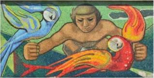 Braulio Salazar. Mural Edificio La Guacamaya, 1954