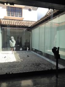 Patio Interno. Joseph Bailly, fragmentos de El Saludante y El Manganzón. Foto Mayerling Zapata, enero 2017.