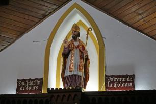 Imagen de San Martín de Tours, traída con los primeros colonos en 1842. Foto José Luis Rosales, Diciembre 2016.