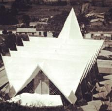 El recién inaugurado templo, en 1962.