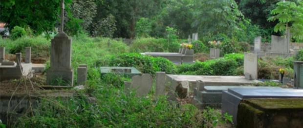 Segundo cementerio de Atapabo, construido en 1949.