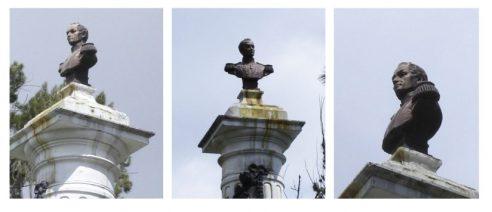 Busto del Libertador, se observa el deterioro. Foto Samuel Hurtado Camargo