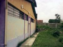 Pared posterior de la sede del centro cultural Visagra. Foto Daniel Mena.
