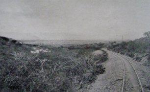 Los rieles hacia Barquisimeto, desde Tucacas. Ferrocarril Bolívar.