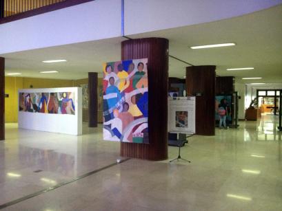 Hall de la Biblioteca Central UCV. Foto: Mayerling Zapata López.