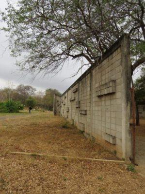 Una de las paredes perimetrales del JBM.
