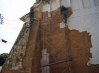 Trabajos de restauración de la iglesia San Nicolás de Bari, de Obispos, concluidos en 2015. Barinas, Venezuela.