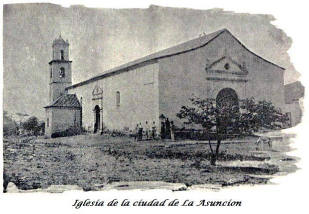 Postal de la catedral Nuestra Señora de La Asunción, del estado Nueva Esparta.