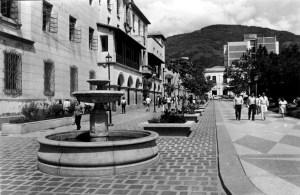 Jardineras del costado suroeste de la plaza Bolívar incorporadas en la década de los 80. Estado Mérida, patrimonio venezolano.