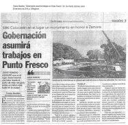 Parte de prensa sobre la demolición de la obra arquitectónica de la redoma de Punto Fresco, Barinas. Barinas, Venezuela.