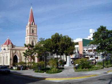 Panorámica de la plaza Rangel después de su última reconstrucción, diciembre 2006. Foto Samuel Hurtado Camargo