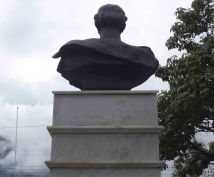 Vista posterior del busto de Rangel, 7 de mayo de 2017. Foto Samuel Hurtado Camargo