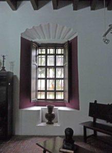 Aspecto de las ventanas internas de Casacoima, monumento histórico histórico nacional ubicado en Guanare, estado Portuguesa. Patrimonio cultural venezolano.
