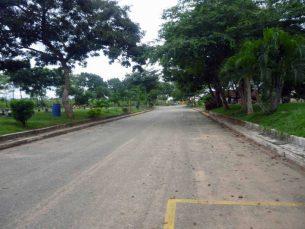 Avenida central del cementerio parque jardín Nuestra Señora del Rosario, Barinas. Venezuela.