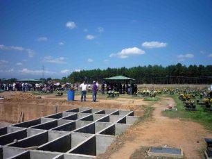 Construcción de las bóvedas Parque Jardin Nuestra Señora del Rosario del Real. Barinas, Venezuela.