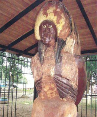 Escultura El Indio en 2005. Foto. Instituto del Patrimonio Cultural. Venezuela.