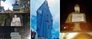 Apropiación del simbolismo de las estatuas del estado Mérida durante las protestas en Venezuela.