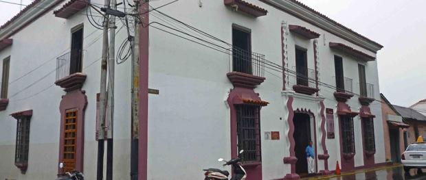 Fachada de Casacoima, tras su restauración en 2012. Monumento histórico nacional de Venezuela.