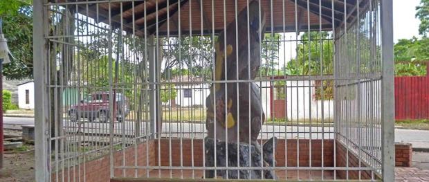 Monumento a El Indio. Patrimonio cultural del estado Barinas, Venezuela.