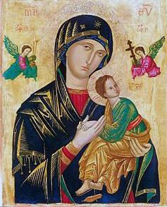 Imagen de la Virgen del Perpetuo Socorro, venerada en la capilla homónima de El Vigía