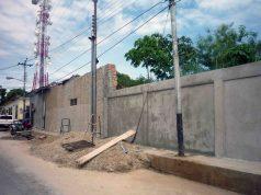 Restauración de la pared de la casa Tapiera en 2012. Centro histórico de Barinas, Venezuela.