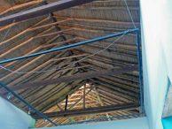 Vista del techo del Museo Trapiche de Los Clavo. Patrimonio cultural de Boconó, estado Trujillo, Venezuela.