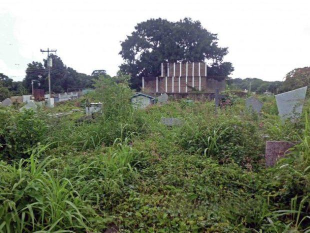 Bajo los escombro de estos nichos se supone se hallan los restos del libertador de Guayana, Manuel Piar, en el cementerio histórico de Ciudad Bolívar. Patrimonio cultural en peligro, Venezuela.
