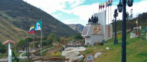 El imponente monumento al perro Nevado, en el municipio Rangel, de Mérida. Patrimonio cultural de Venezuela. Monumento al perro Nevado.