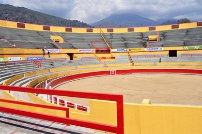 Gradas de la Plaza de Toros Román Eduardo Sandia Briceño, la monumental de Mérida. Patrimonio cultural de venezuela.