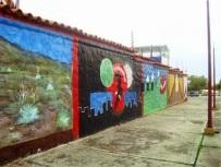 Murales taurinos en la plaza de toros de Mérida. Plaza de Toros Román Eduardo Sandia, patrimonio cultural del estado Mérida, Venezuela..