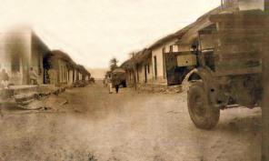 Calle principal hacia la playa, donde se construyera la iglesia de Chirimena. Foto colección cronista de Brion.